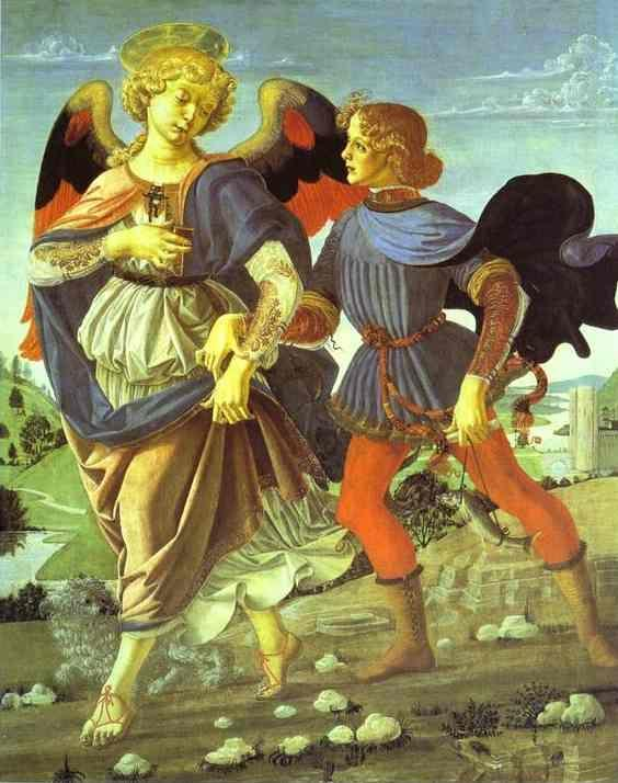 Andrea del Verrocchio. Tobias and the Angel.