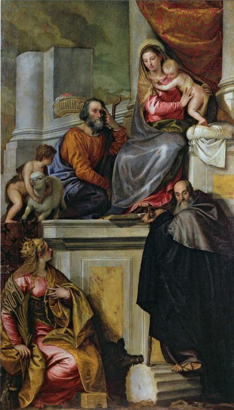Paolo Veronese. Holy Family with Saint John the Baptist, Saint Abthony Abbot, and Saint Catherine.