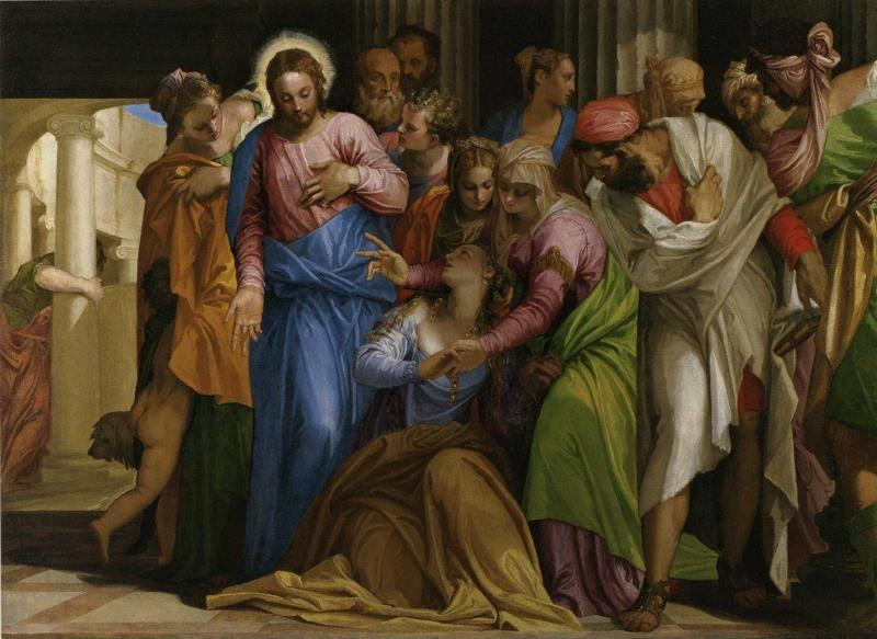 Paolo Veronese. Christ Healing a Woman with an Issue of Blood.