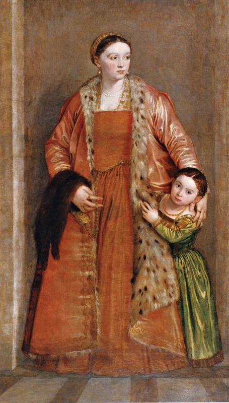 Paolo Veronese. Livia da Porto Thiene and Her Daughter Porzia.