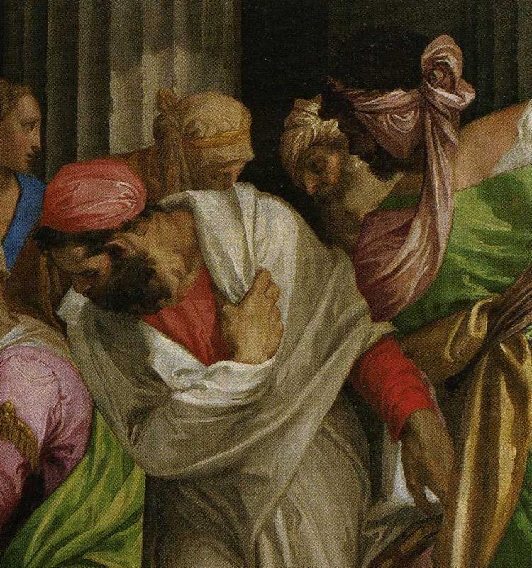 Paolo Veronese. Christ Healing a Woman with an Issue of Blood. Detail.