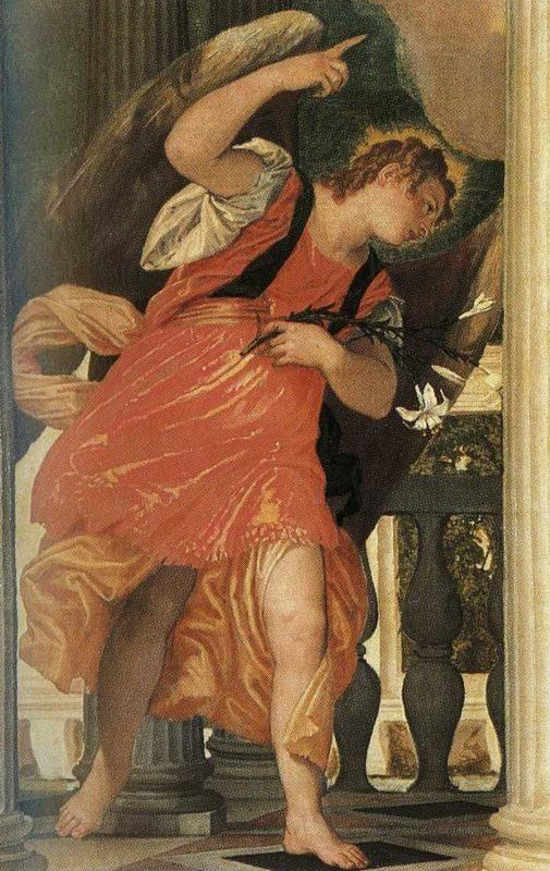 Paolo Veronese. The Annunciation. Detail.