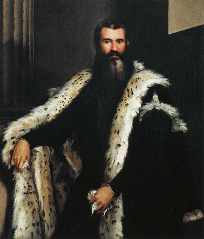 Paolo Veronese. Portrait of a Gentleman in a Fur.