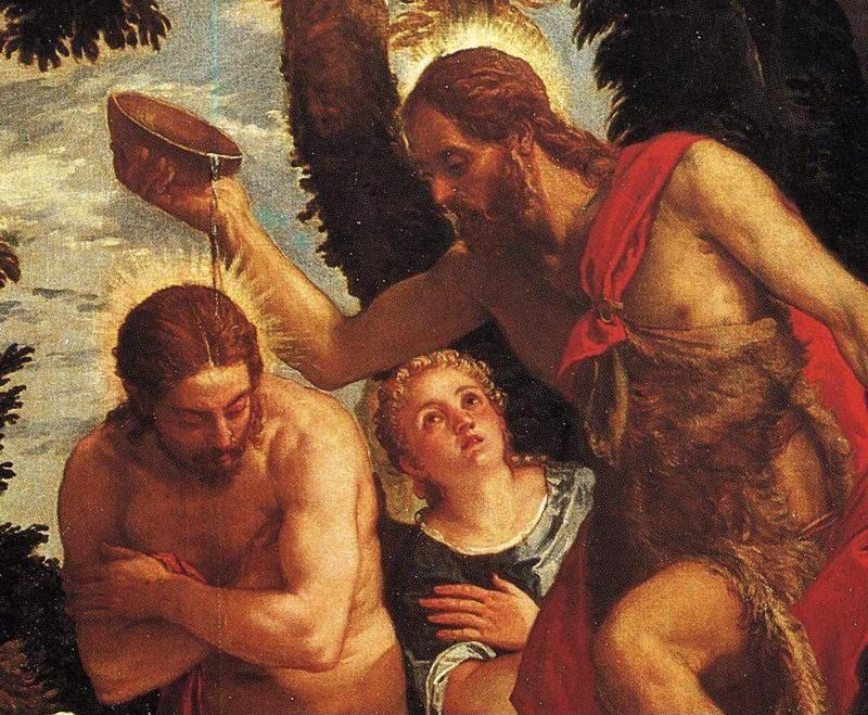 Paolo Veronese. The Baptism of Christ. Detail.