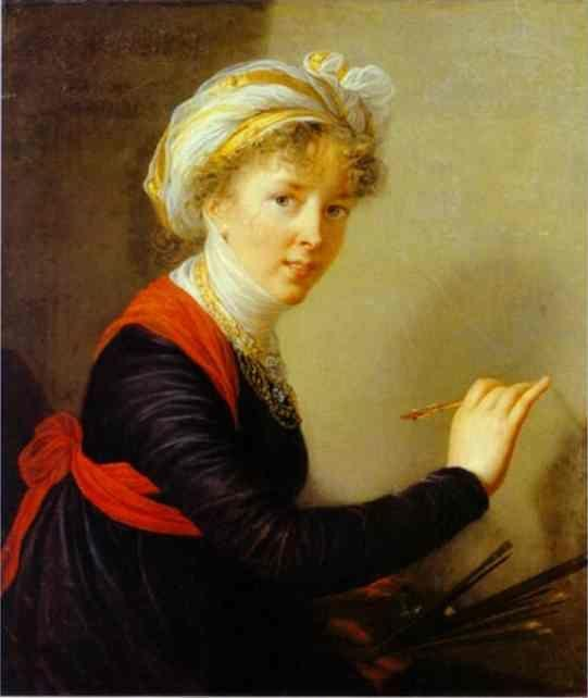 Louise-Elisabeth Vigee-Lebrun. Self Portrait.