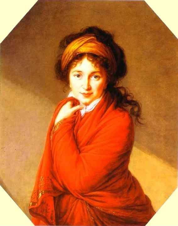 Louise-Elisabeth Vigée-Lebrun. Portrait of Countess Varvara Golovina.