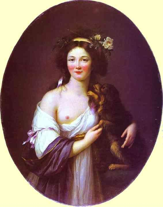 Louise-Elisabeth Vigée-Lebrun. Portrait of Mme D'Aguesseau.