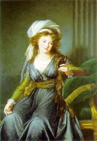 Louise-Elisabeth Vigée-Lebrun. Portrait of Countess Catherine Skavronskaya.