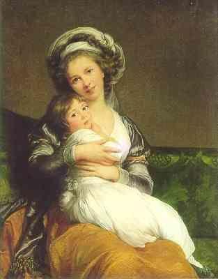 Louise-Elisabeth Vigée-Lebrun. Self Portrait with Daughter (Jeanne Julie Louise, 1780-1809).