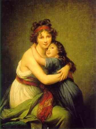 Louise-Elisabeth Vigée-Lebrun. Self Portrait with Daughter.