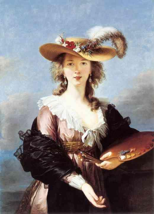 Louise-Elisabeth Vigée-Lebrun. Self-Portrait in a Straw Hat.
