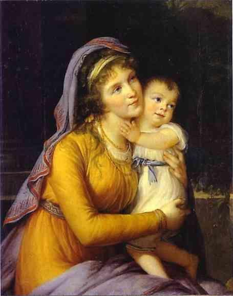 Louise-Elisabeth Vigée-Lebrun. Baroness Anna Sergeevna Stroganova and Her Son Sergey.