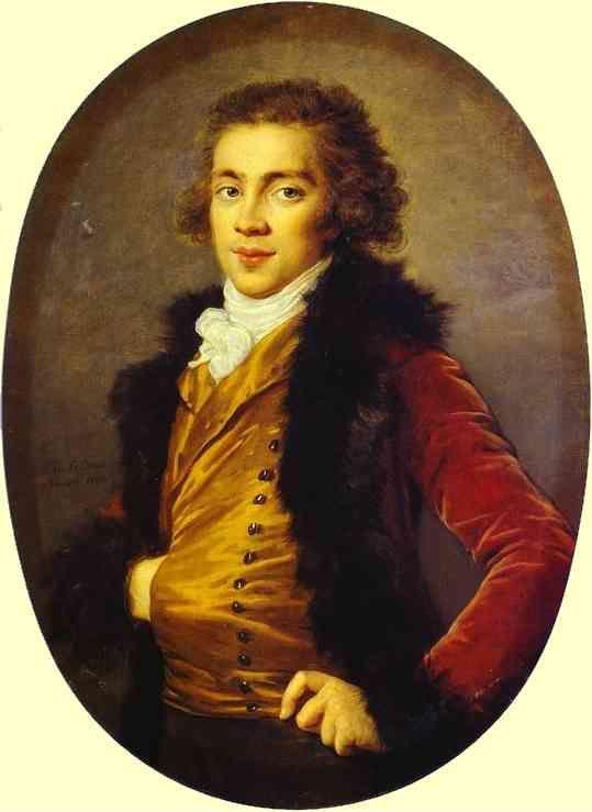Louise-Elisabeth Vigée-Lebrun. Portrait of Baron Grigory Alexandrovich Stroganoff (1770-1857).