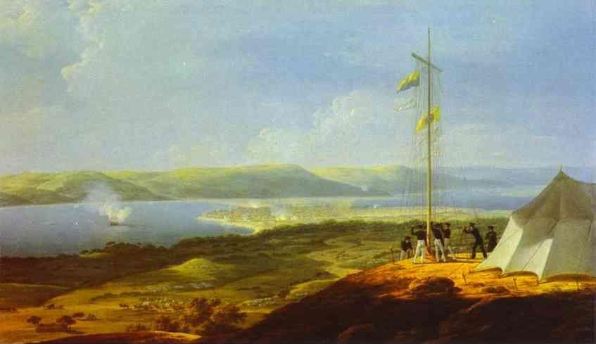 Maxim Vorobiev. View of the Military Telegraph near Varna.