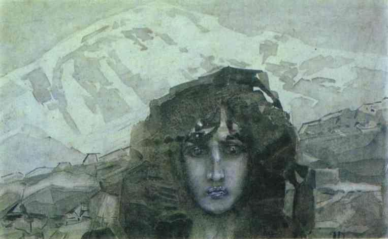 Mikhail Vrubel. Head of Demon.