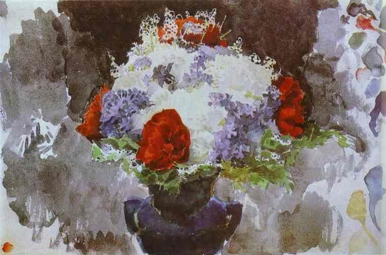 Mikhail Vrubel. Flowers in a Blue Vase.