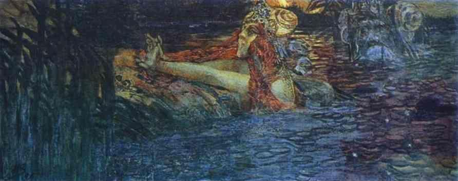 Mikhail Vrubel. Parting of the Sea King and Princess Volkhova.