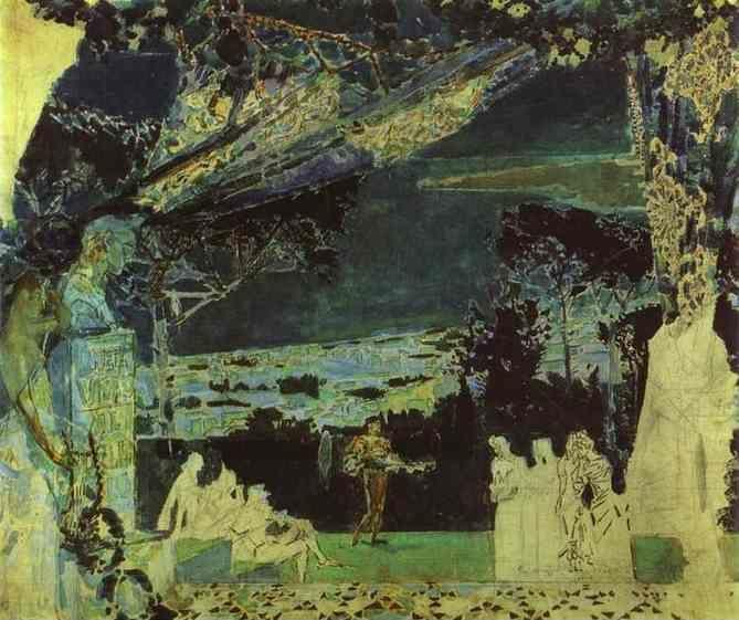 Mikhail Vrubel. Italy. Night in Naples.