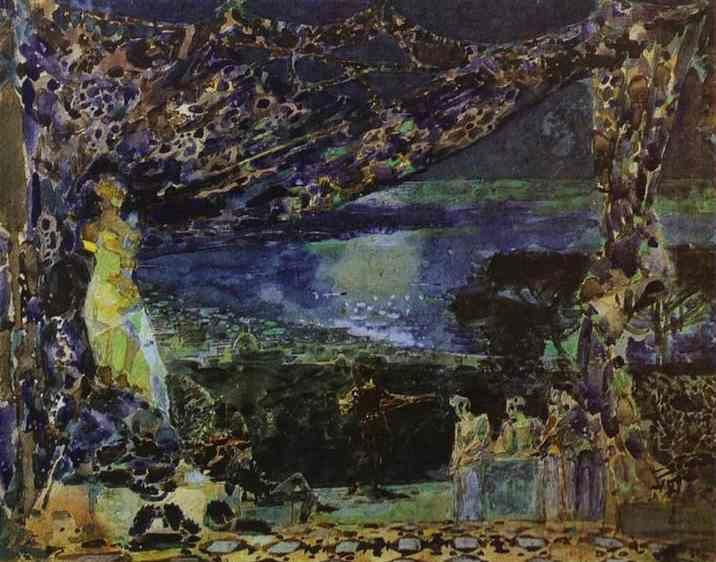 Mikhail Vrubel. Italian Night.