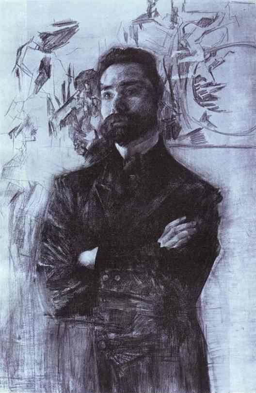 Mikhail Vrubel. Portrait of the Poet Valery Briusov.