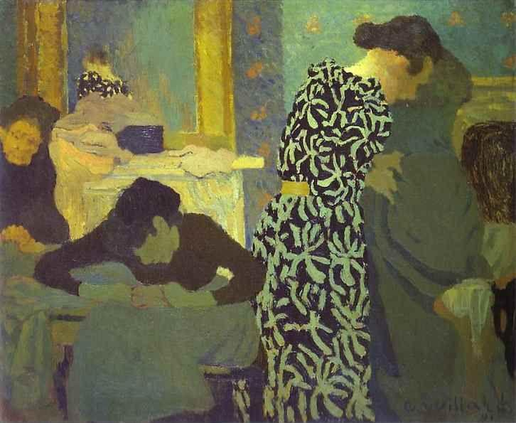 Edouard Vuillard. The Dress with Foliage/La robe à ramages.