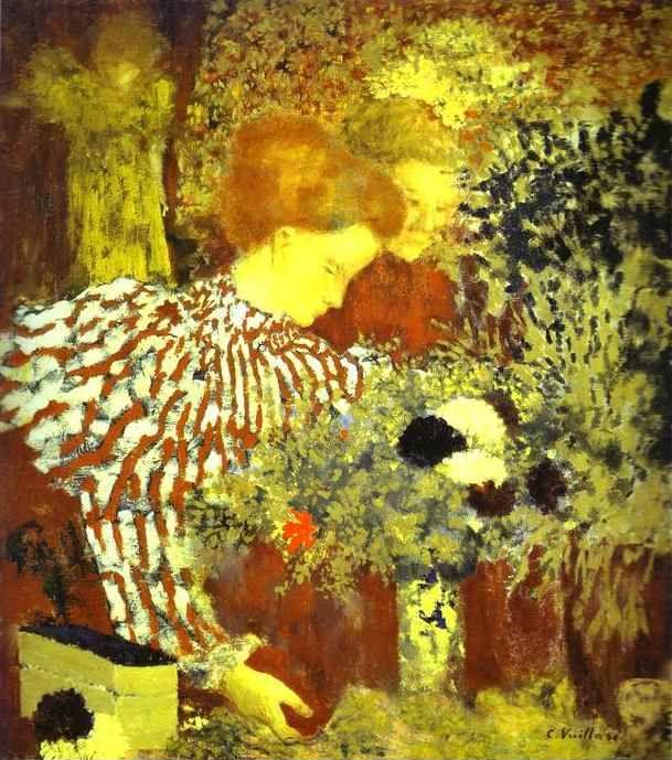 Edouard Vuillard. The Stripped Blouse/Le Corsage rayé.