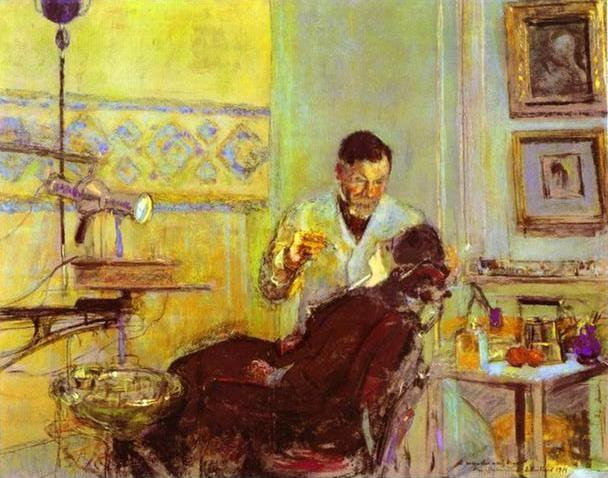 Edouard Vuillard. Dr. Georges Viau in His Office Treating Annette Roussel.