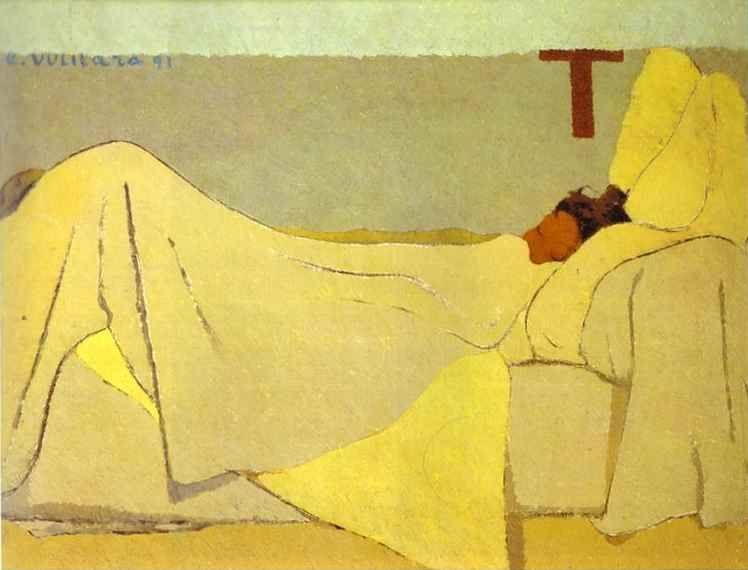 Edouard Vuillard. In Bed/Au lit.