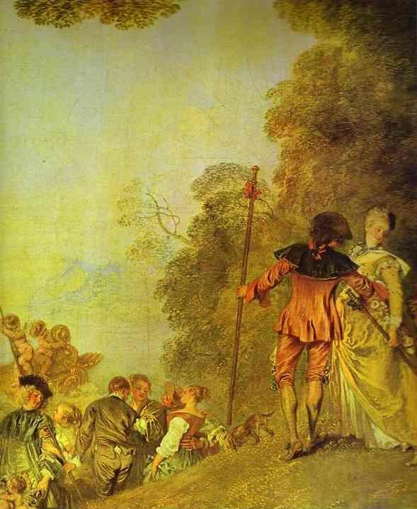 Jean-Antoine Watteau. Embarkation for Cythera. Detail.