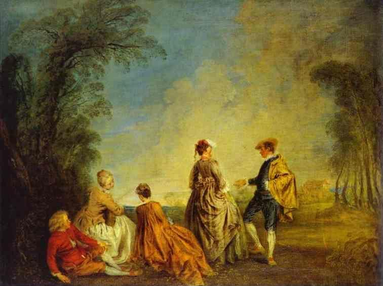 Jean-Antoine Watteau. An Embarrassing Proposal.