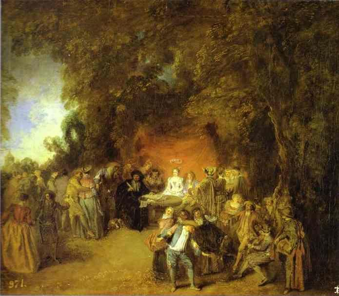 Jean-Antoine Watteau. The Marriage Contract.