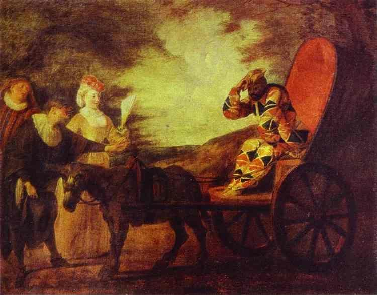 Jean-Antoine Watteau. Arlecchino Emperor in the Moon.