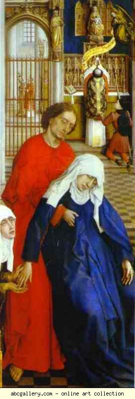 Rogier van der Weyden. Seven Sacraments Altarpiece. Virgin Mary and St. John.