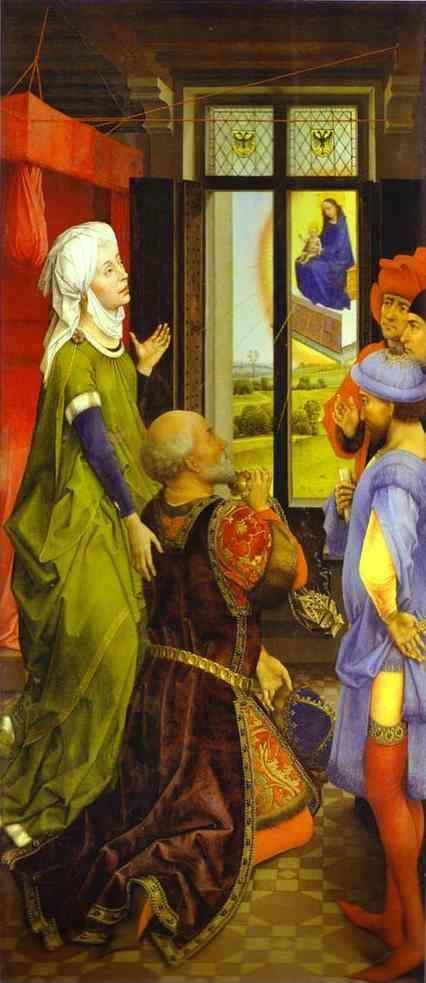 Rogier van der Weyden. Middelburg Altarpiece. Vision of the Emperor Octavian.