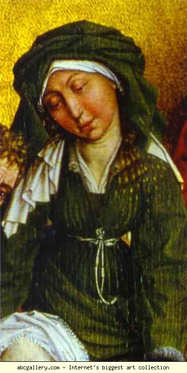 Rogier van der Weyden. Deposition. Holy Woman. Detail.