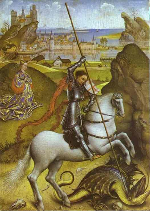 Rogier van der Weyden. St. George and the Dragon.