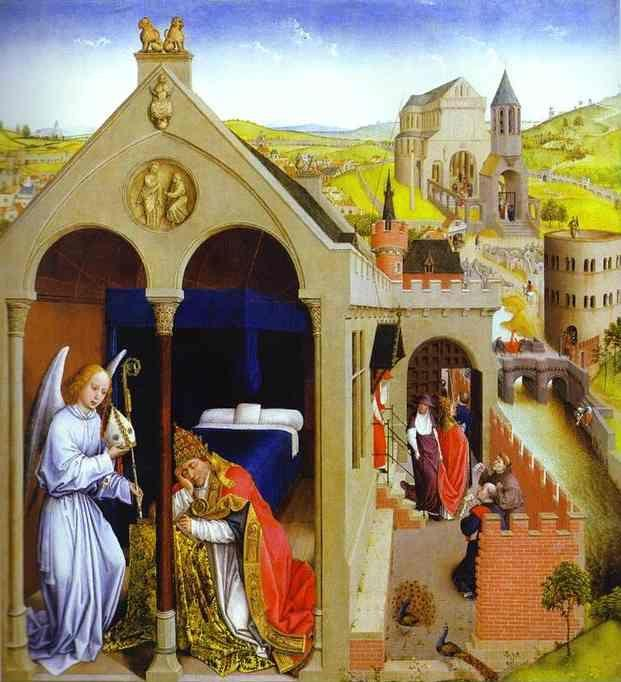 Rogier van der Weyden. Dream of Pope Sergius.