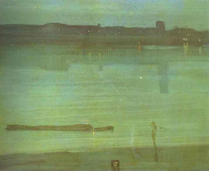 James Abbott McNeill Whistler. Nocturne in Blue and Green; Chelsea.
