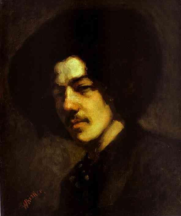 James Abbott McNeill Whistler. Portrait of Whistler with Hat.