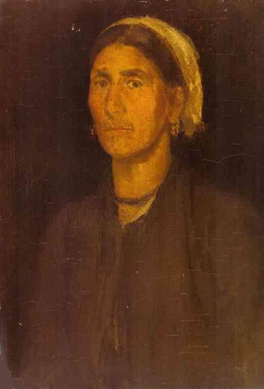 James Abbott McNeill Whistler. Head of a Peasant Woman.