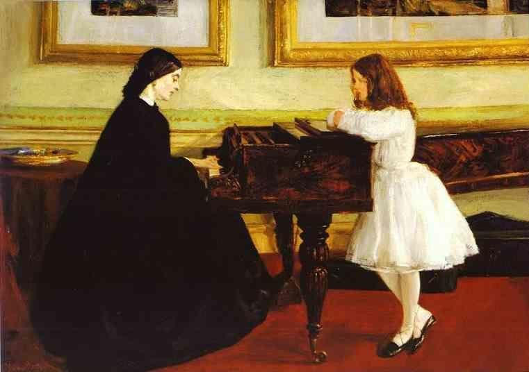 James Abbott McNeill Whistler. At the Piano.
