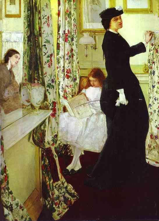 James Abbott McNeill Whistler. Harmony in Green and Rose: The Music Room.