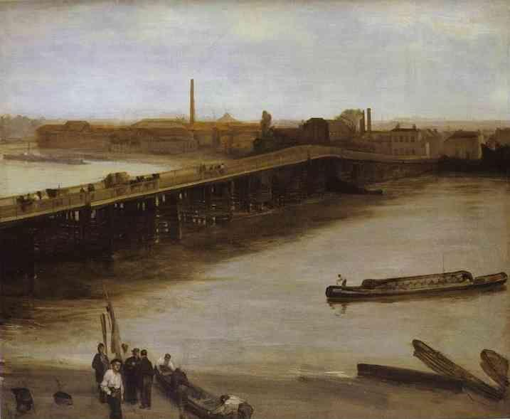 James Abbott McNeill Whistler. Brown and Silver: Old Battersea Bridge.