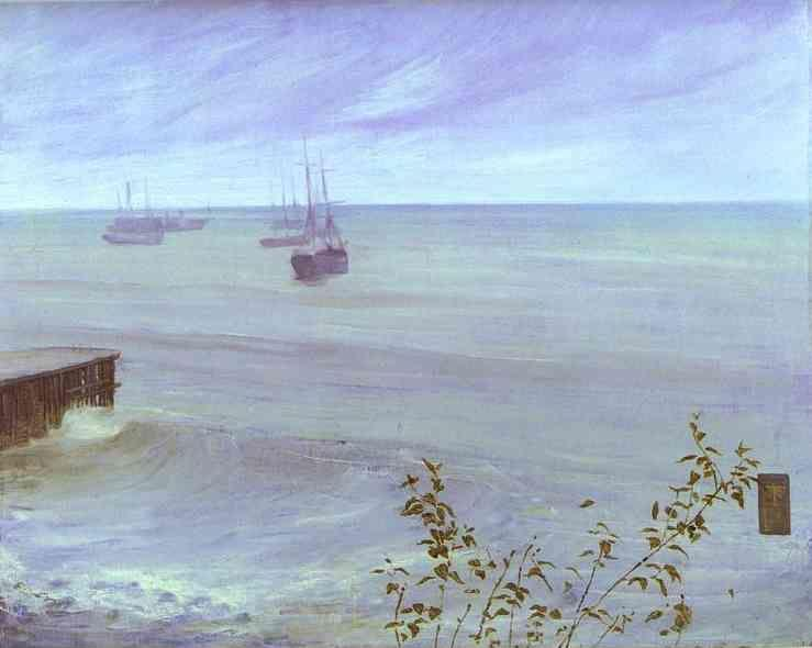 James Abbott McNeill Whistler. Symphony in Gray and Green: The Ocean.