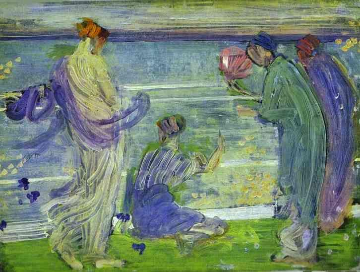 James Abbott McNeill Whistler. Variations in Blue and Green.