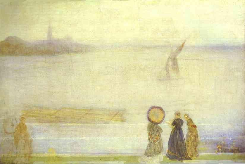 James Abbott McNeill Whistler. Battersea Reach from Lindsey Houses.