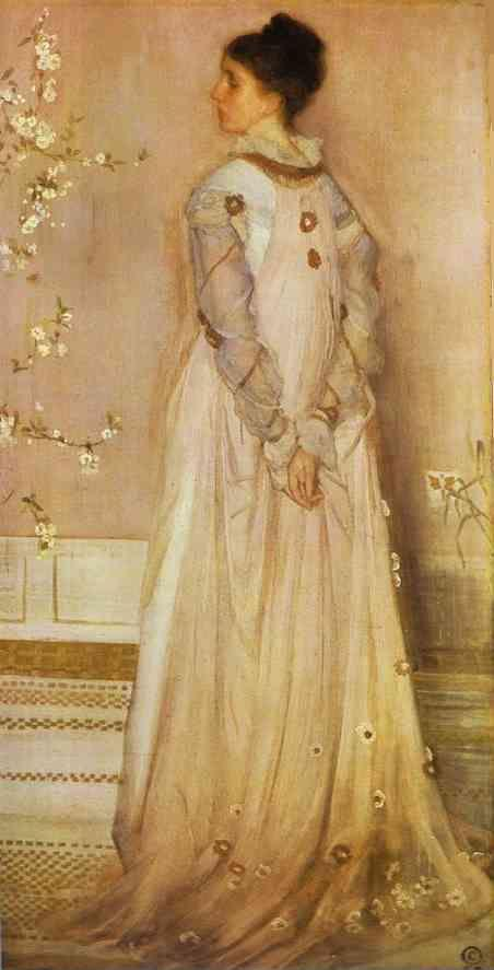 James Abbott McNeill Whistler. Symphony in Flesh Color and Pink: Portrait of Mrs. Frances Leyland.
