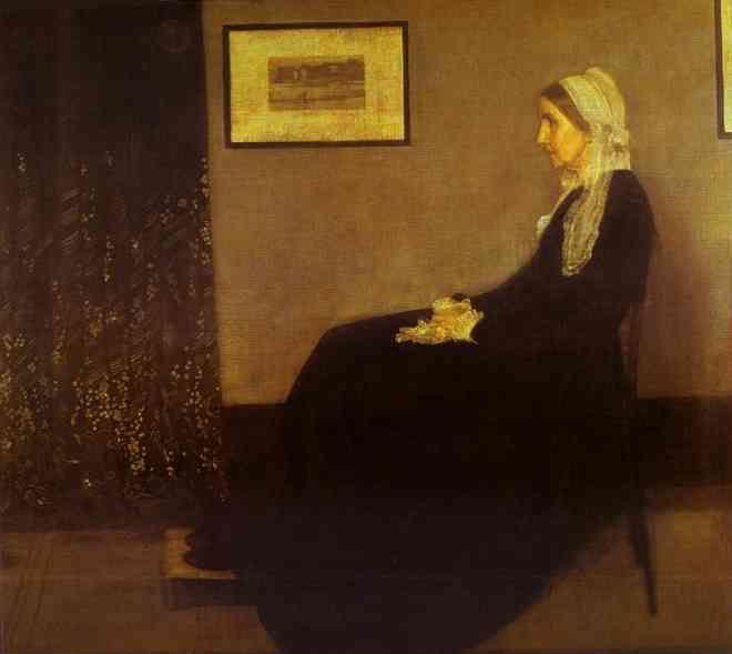 James Abbott McNeill Whistler. Arrangement in Gray and Black No. 1: Portrait of the Artist's Mother.