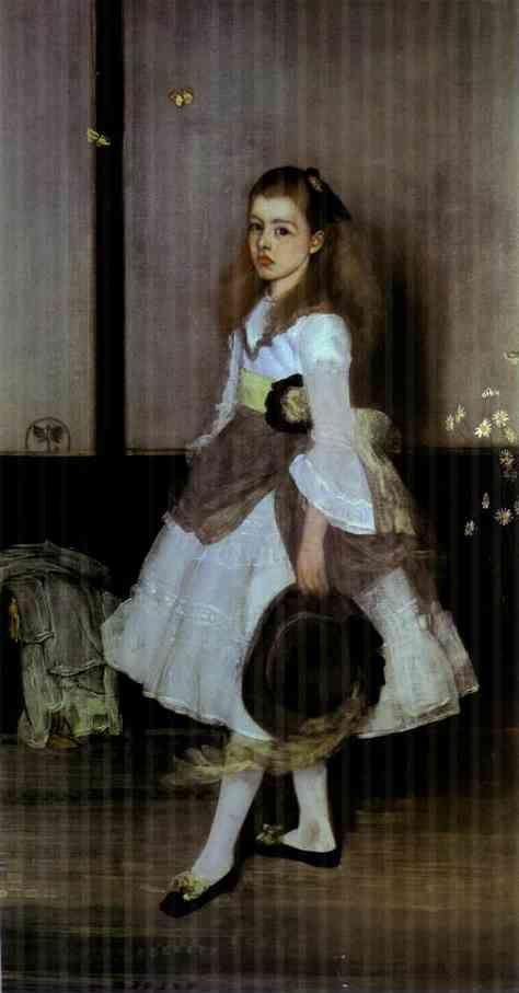 James Abbott McNeill Whistler. Harmony in Gray and Green: Miss Cicely Alexander.