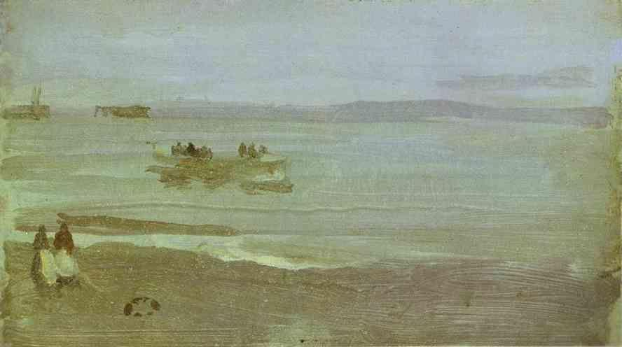 James Abbott McNeill Whistler. Gray and Silver: Mist - Lifeboat.